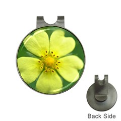 Yellowwildflowerdetail Hat Clip with Golf Ball Marker