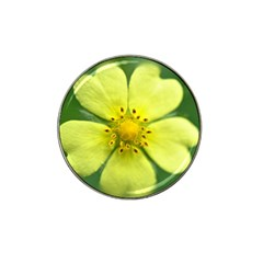 Yellowwildflowerdetail Golf Ball Marker (for Hat Clip)
