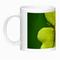 Yellowwildflowerdetail Glow in the Dark Mug