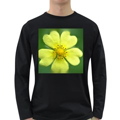 Yellowwildflowerdetail Men s Long Sleeve T-shirt (Dark Colored)