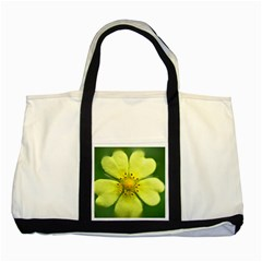 Yellowwildflowerdetail Two Toned Tote Bag