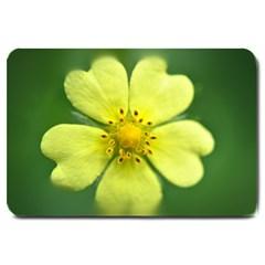Yellowwildflowerdetail Large Door Mat
