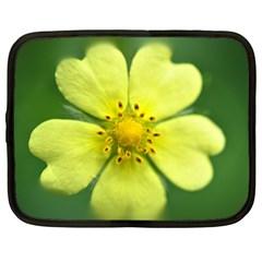 Yellowwildflowerdetail Netbook Sleeve (large)