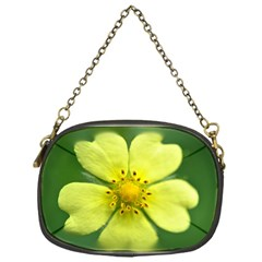 Yellowwildflowerdetail Chain Purse (One Side)