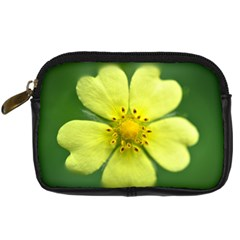 Yellowwildflowerdetail Digital Camera Leather Case
