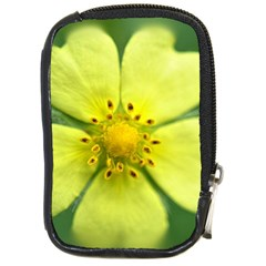 Yellowwildflowerdetail Compact Camera Leather Case