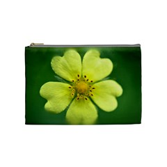 Yellowwildflowerdetail Cosmetic Bag (medium)