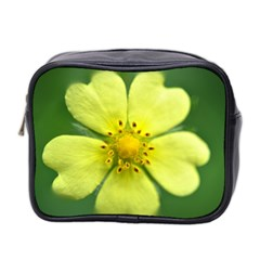 Yellowwildflowerdetail Mini Travel Toiletry Bag (Two Sides)