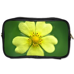 Yellowwildflowerdetail Travel Toiletry Bag (two Sides)