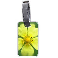 Yellowwildflowerdetail Luggage Tag (Two Sides)