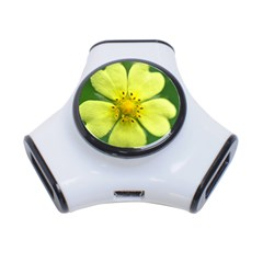 Yellowwildflowerdetail 3 Port USB Hub
