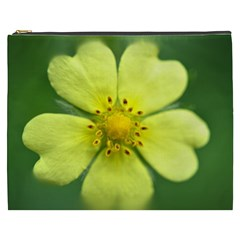 Yellowwildflowerdetail Cosmetic Bag (XXXL)