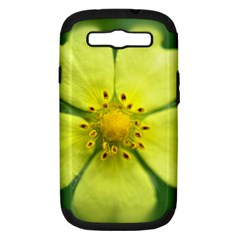 Yellowwildflowerdetail Samsung Galaxy S Iii Hardshell Case (pc+silicone)