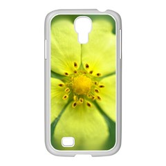 Yellowwildflowerdetail Samsung GALAXY S4 I9500/ I9505 Case (White)