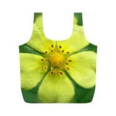 Yellowwildflowerdetail Reusable Bag (m)