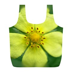 Yellowwildflowerdetail Reusable Bag (l)