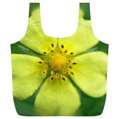 Yellowwildflowerdetail Reusable Bag (XL)