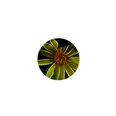 Yellow Wildflower Abstract 1  Mini Button