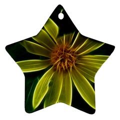 Yellow Wildflower Abstract Star Ornament