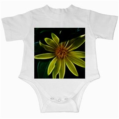 Yellow Wildflower Abstract Infant Bodysuit