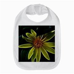 Yellow Wildflower Abstract Bib