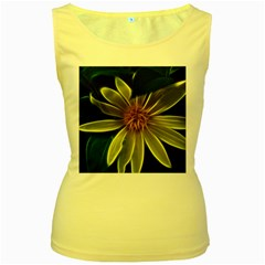 Yellow Wildflower Abstract Women s Tank Top (Yellow)