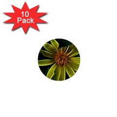 Yellow Wildflower Abstract 1  Mini Button Magnet (10 pack)