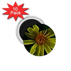 Yellow Wildflower Abstract 1 75  Button Magnet (10 Pack)