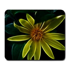 Yellow Wildflower Abstract Large Mouse Pad (rectangle)
