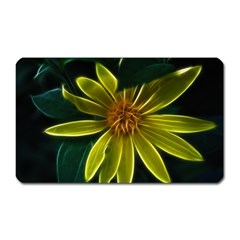 Yellow Wildflower Abstract Magnet (Rectangular)