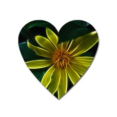 Yellow Wildflower Abstract Magnet (heart)
