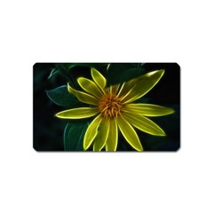 Yellow Wildflower Abstract Magnet (Name Card)