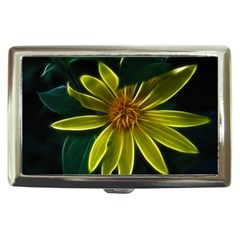 Yellow Wildflower Abstract Cigarette Money Case