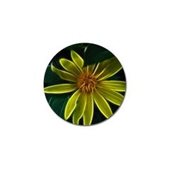 Yellow Wildflower Abstract Golf Ball Marker 10 Pack