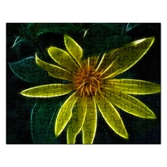 Yellow Wildflower Abstract Jigsaw Puzzle (rectangle)