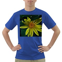 Yellow Wildflower Abstract Men s T-shirt (Colored)