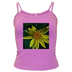 Yellow Wildflower Abstract Spaghetti Top (Colored)