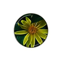 Yellow Wildflower Abstract Golf Ball Marker 4 Pack (for Hat Clip)