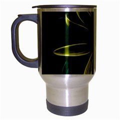 Yellow Wildflower Abstract Travel Mug (silver Gray)
