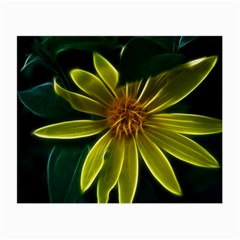 Yellow Wildflower Abstract Glasses Cloth (small)