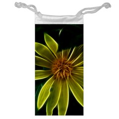 Yellow Wildflower Abstract Jewelry Bag
