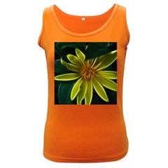 Yellow Wildflower Abstract Women s Tank Top (Dark Colored)