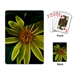Yellow Wildflower Abstract Playing Cards Single Design
