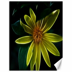 Yellow Wildflower Abstract Canvas 12  x 16  (Unframed)