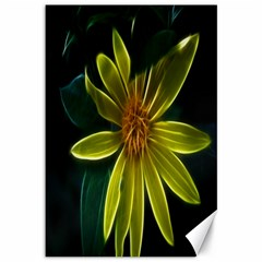 Yellow Wildflower Abstract Canvas 12  x 18  (Unframed)