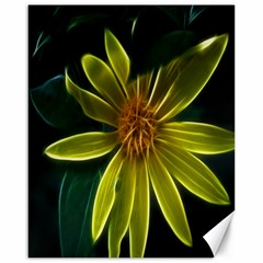 Yellow Wildflower Abstract Canvas 16  x 20  (Unframed)