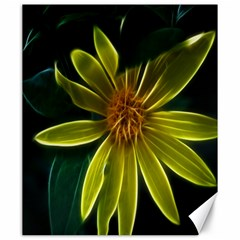 Yellow Wildflower Abstract Canvas 20  x 24  (Unframed)