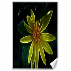 Yellow Wildflower Abstract Canvas 24  x 36  (Unframed)