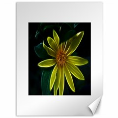 Yellow Wildflower Abstract Canvas 36  X 48  (unframed)