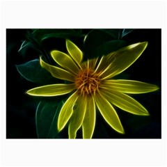 Yellow Wildflower Abstract Glasses Cloth (large, Two Sided)
